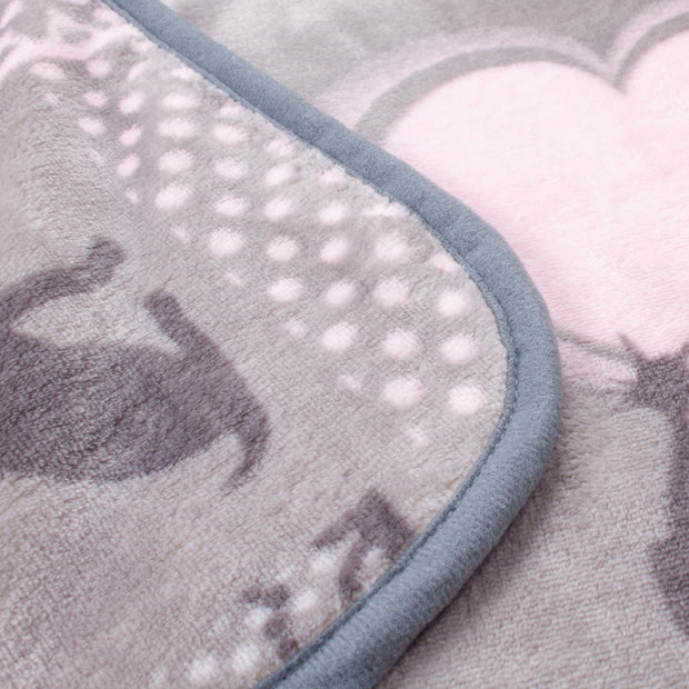 Quality Flannel and Fleece Pets Love Baby Blanket