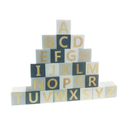 Wooden Letter Blocks Grey