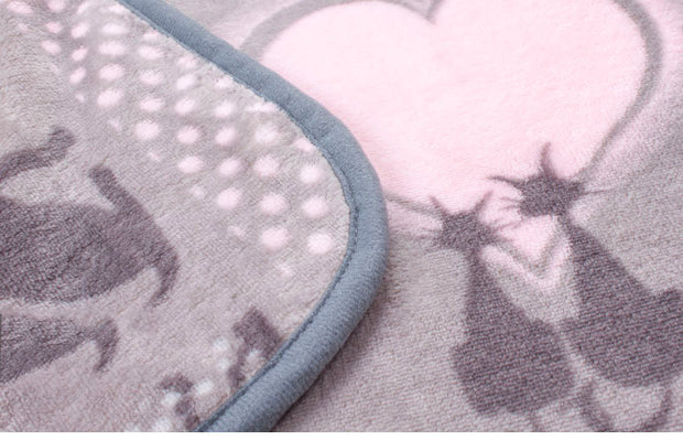 Large Flannel and Fleece Pets Love Baby Blanket