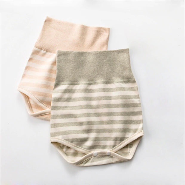 Organic Cotton High Waisted Baby Panties, 2-Pack