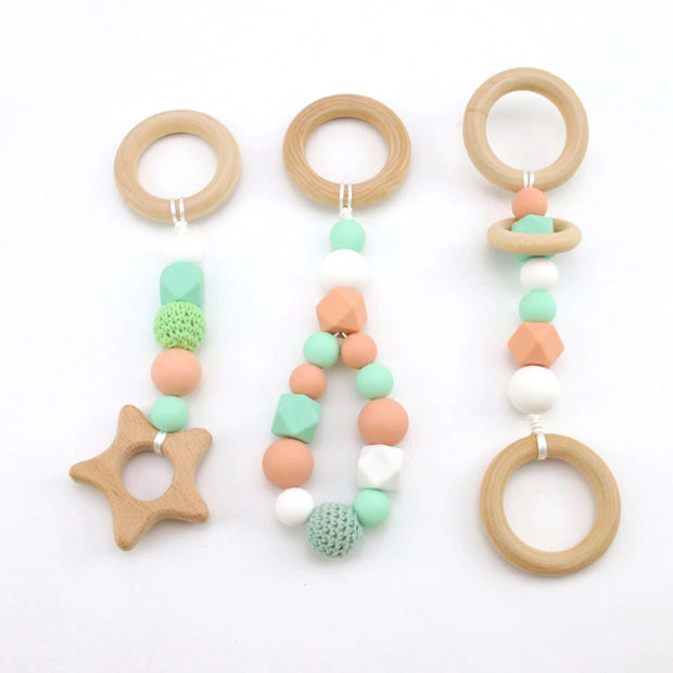 Handmade Baby Activity Gym Accessories, 3-Pack