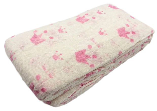 Natural Cotton and Bamboo Muslin Baby Blanket