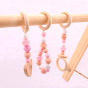 Pink Baby Activity Gym Accessories 3 Pieces