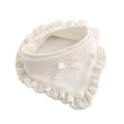 Organic Cotton Ruffled Trim Baby Bib