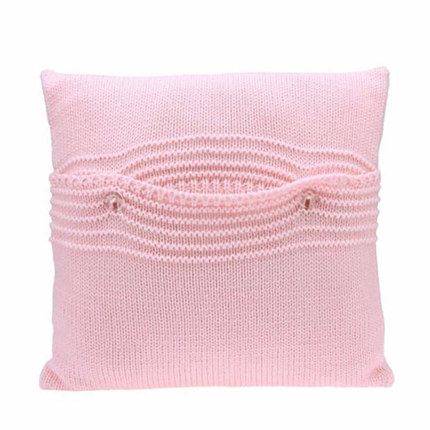 organic cotton knitted pillow