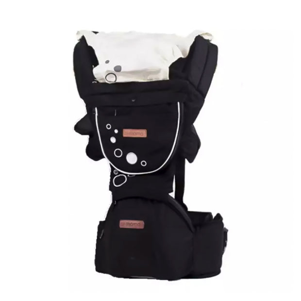 Cotton Blend Versatile Ergonomic Baby Carrier with Removable Hip Seat