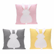 3D Baby Bunny Knitted toddler throw pillow organic cotton minimalist