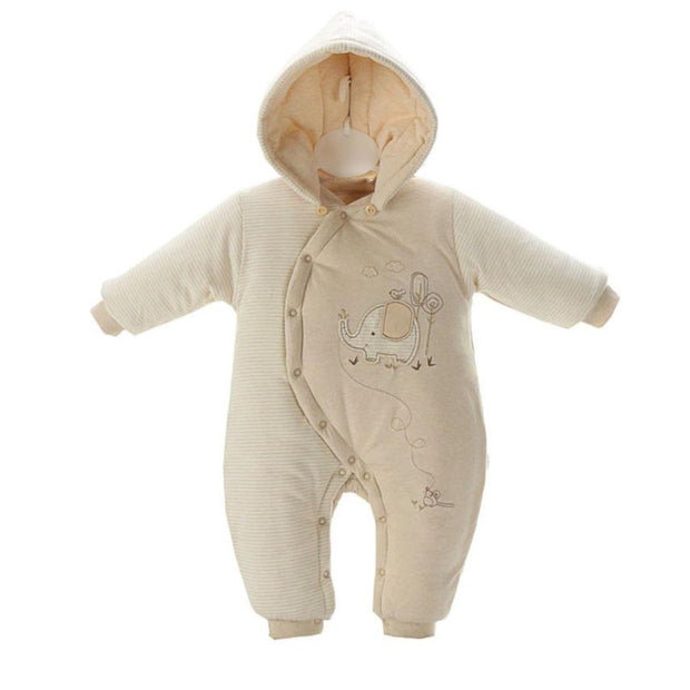 Organic Cotton Elephant Hooded Baby Pram