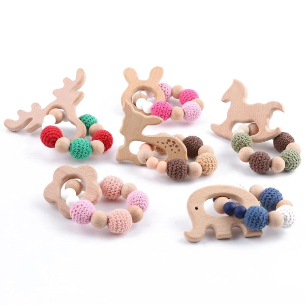 Handmade Montessori Holiday Wooden Teether