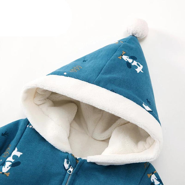hooded baby pram suit