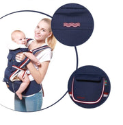 Navy Blue 5-in-1 Ergonomic Infant to Toddler Baby Carrier with Removable Hip Seat