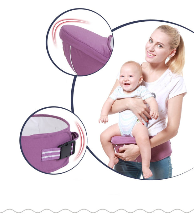 ergonomic baby carrier with hip seat