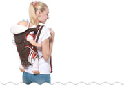 ergonomic baby carrier with hip seat for all seasons