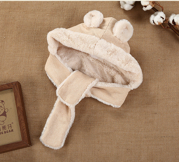 Organic Cotton Sherpa Baby Hat