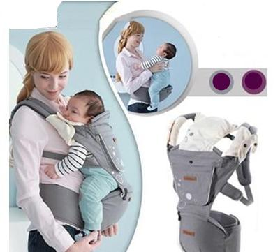Cotton Versatile Ergonomic Baby Carrier with Removable Hip Seat