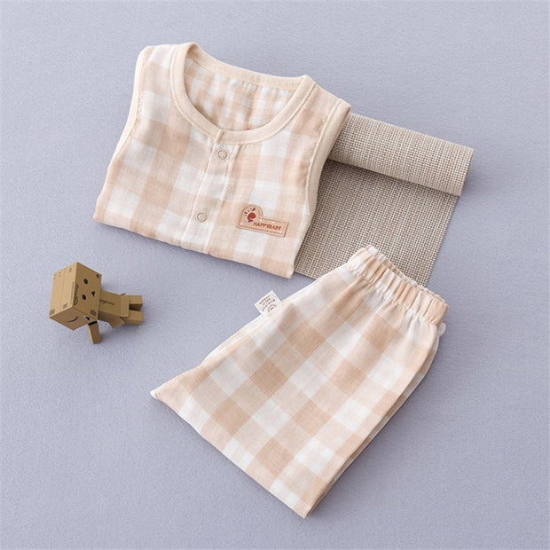Organic Cotton Muslin Baby Outfit, 2-Piece Set