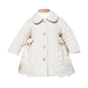 Organic Cotton Baby Girl Crochet Coat
