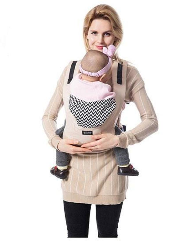 Beige  Cotton  Ergonomic Baby Carrier