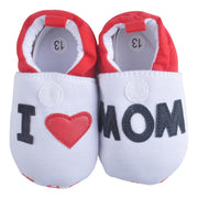 I Love Mom Cotton Baby Shoes