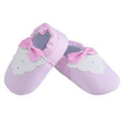 Pink Bow Tie Baby Shoes