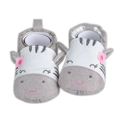 Cotton Baby Shoes with Zebra Design