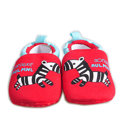 Red Cotton Baby Moccasins
