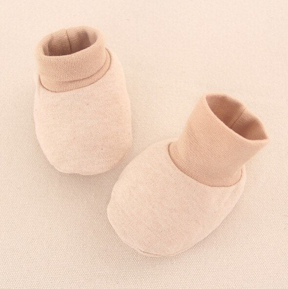 Organic Cotton Baby Mittens and Socks, 2-Piece Set