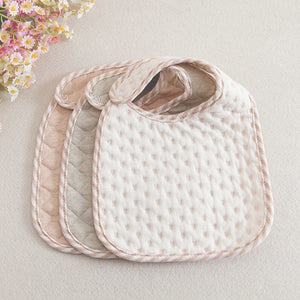 fb6d6a17d7ca1 Organic Cotton Quilted Baby Bibs