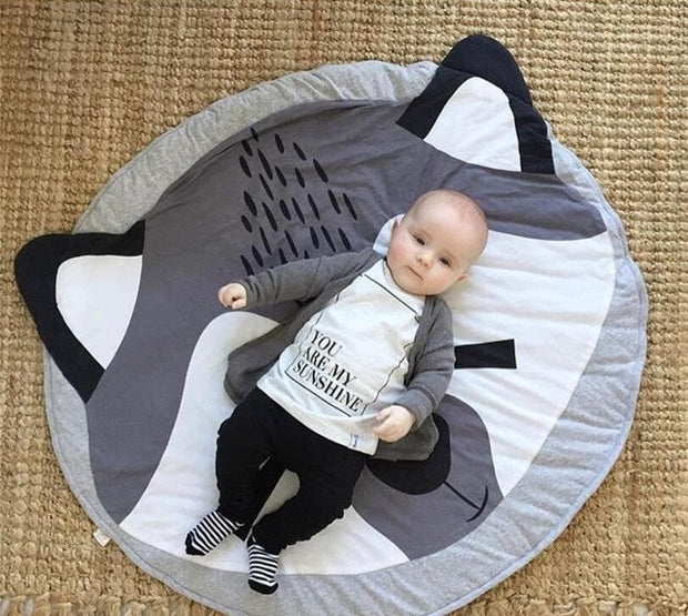 Cotton and Bamboo Baby Activity Mat Fox