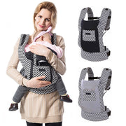 Cotton Ergonomic Baby Carrier with Storage Pouch