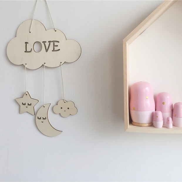 Non-toxic Wooden Dream Catcher Nursery Hanging Decor