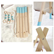 Wooden Baby Activity Gym With Accessories Included