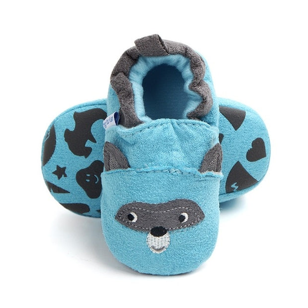 Blue Cotton Baby Moccasins