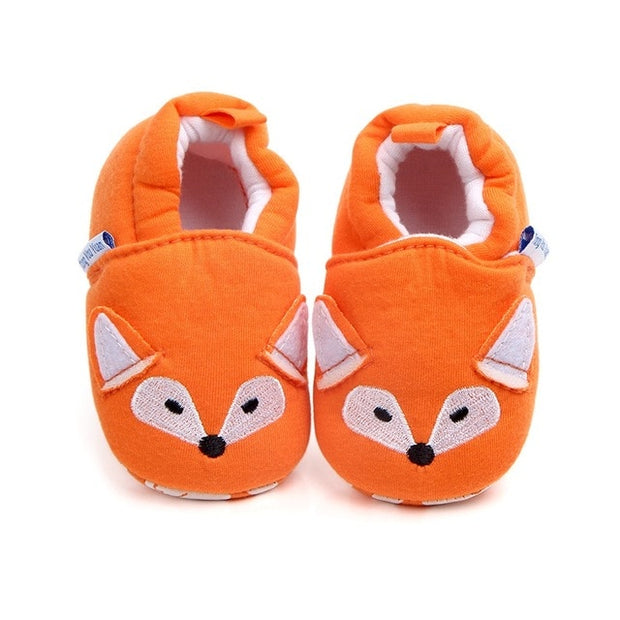 Orange Fox Baby Moccasins