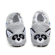 Cotton Baby Moccasins gray racoon