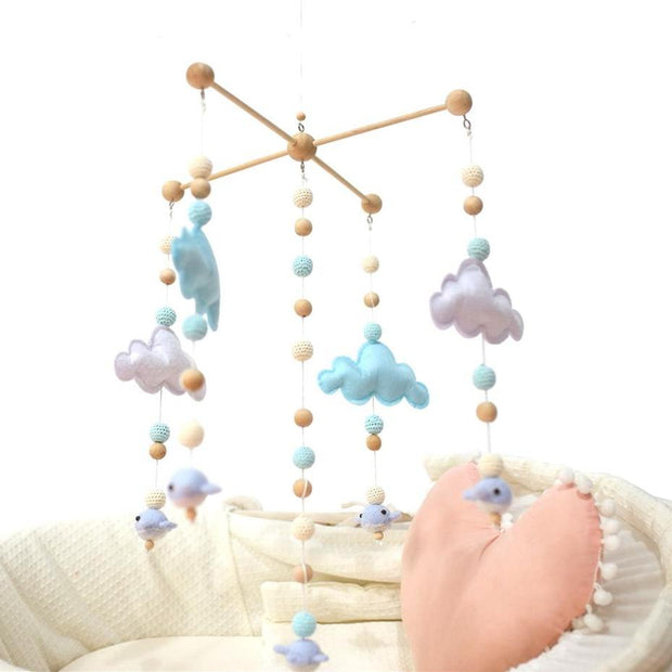 Wooden Cloud Baby Crib Mobile