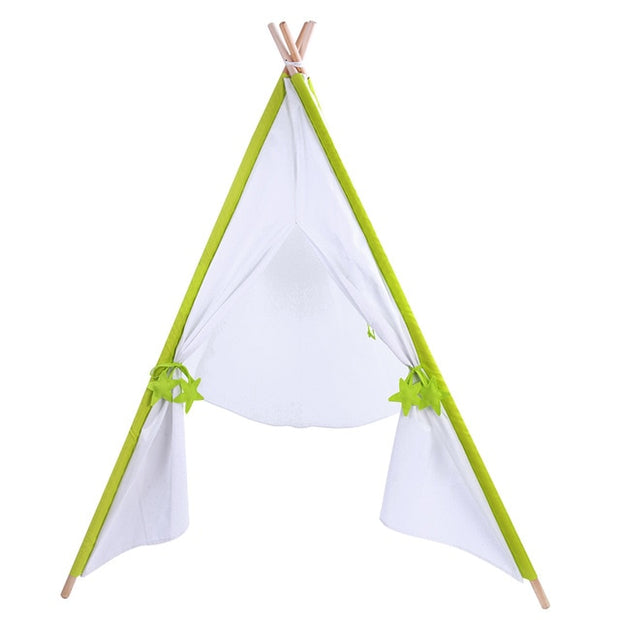 Solid White Teepee Play Tent