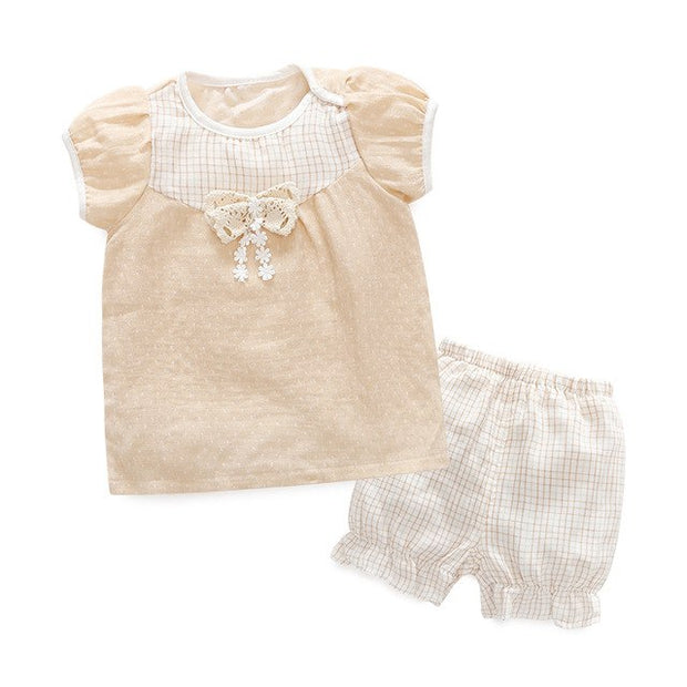 Organic Cotton Baby Top and Shorts, 2-Piece Set