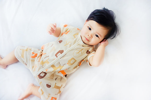 Organic Cotton Forest Short Sleeve Baby Romper