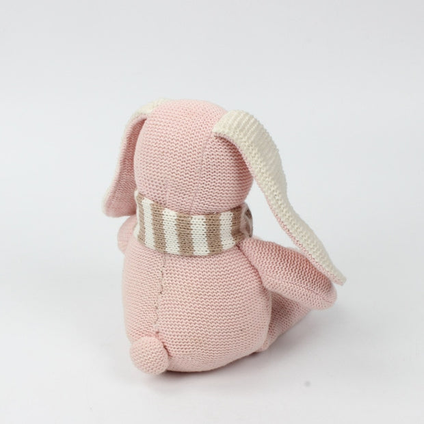 Wool Knitted Stuffed Bunny, Chemical Free