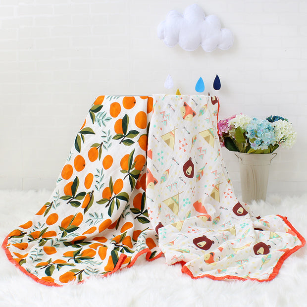 Cotton and Bamboo Layered Baby Muslin Blanket