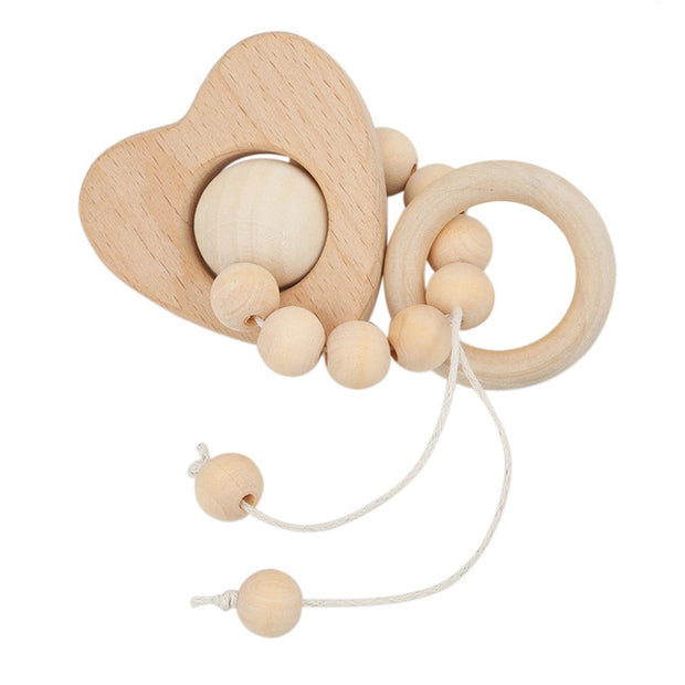 Montessori Baby Teether with Heart Pendant