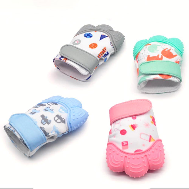 Baby Teething Mitten with cute design