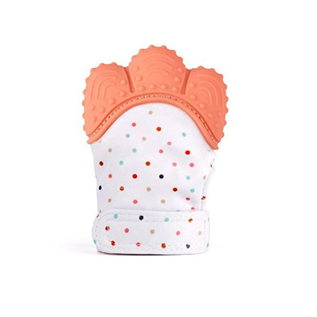 Orange Baby gummee glove