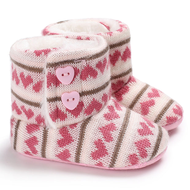 Cozy And Soft Baby Girl Booties