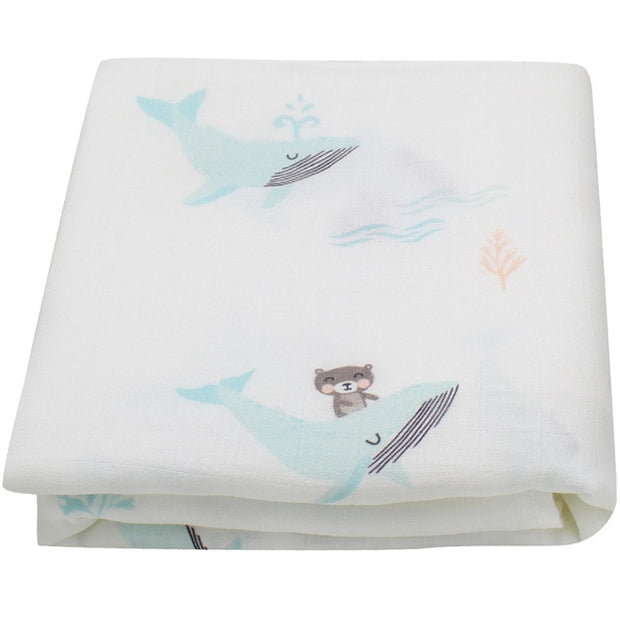 Cotton and Bamboo Baby Muslin Blanket