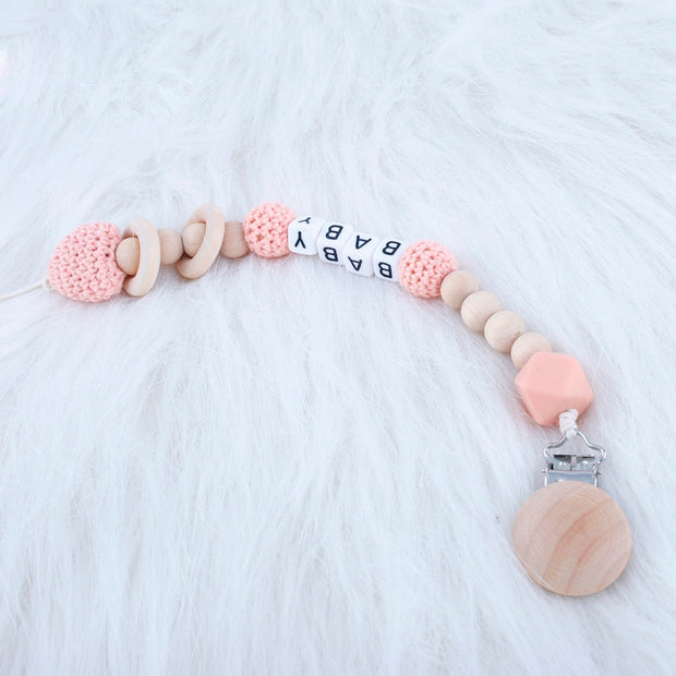 Cute And Trendy Customized Crochet Baby Pacifier Clip