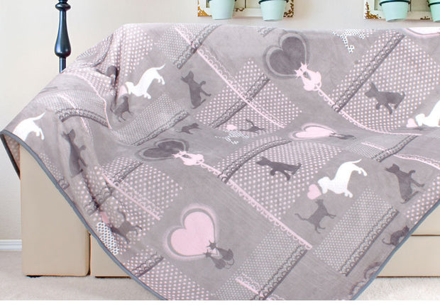 Flannel and Fleece Pets Love Baby Blanket
