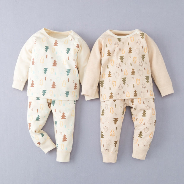 Organic Cotton Christmas Tree Baby Pajamas, 2-Piece Set