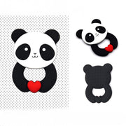 Cute Black and White Baby Panda Teether